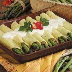 Asparagus Sausage Crepes recipe