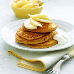 Gingerbread Pancakes with Pears and Yogurt recipe