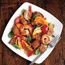 Tomato Panzanella with Shrimp and Basil recipe