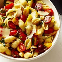 Seashells with Basil, Tomatoes, and Garlic recipe