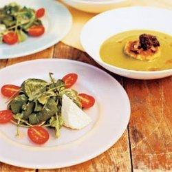 Tomato, Fresh Cheese, and Watercress Salad recipe