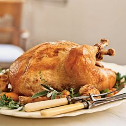 Roast Turkey with Truffle Gravy recipe