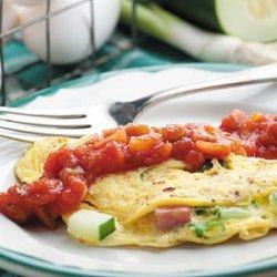 Ham & Feta Cheese Omelet recipe
