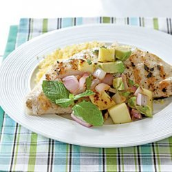 Snapper with Grilled Mango Salsa recipe