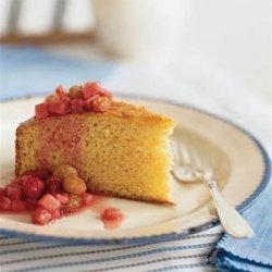 Lemon Polenta Cake with Winter Fruit Compote recipe