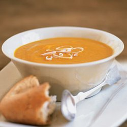 Curried Carrot, Sweet Potato, and Ginger Soup recipe