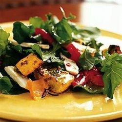 Roasted Pepper, Squash, and Feta Salad recipe