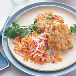 Shrimp Cakes with Carrot Slaw recipe