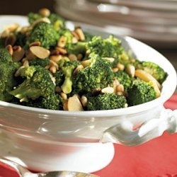 Broccoli with Caramelized Garlic and Pine Nuts recipe