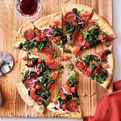 Manchego and Chorizo Pizza recipe