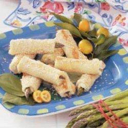Asparagus Sesame Rolls recipe