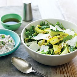 Summer Squash Carpaccio and Shaved Cheese Salad recipe