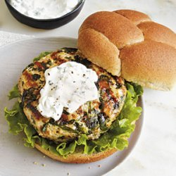 Grilled Turkey Burgers with Goat Cheese Spread recipe