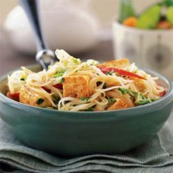 Curried Noodles with Tofu recipe