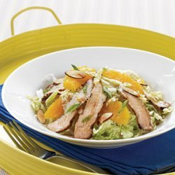 Grilled Pork Salad with Sweet Soy and Orange Dressing recipe
