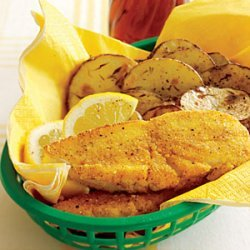 Oven-Fried Fish and Chips recipe