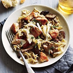 Chicken and Mushrooms in Garlic White Wine Sauce recipe