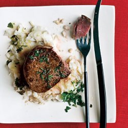 Seared Filet with Mixed-Herb Gremolata recipe