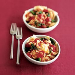 Ravioli With Tomatoes, White Beans, and Escarole recipe