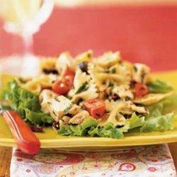 Chicken and Farfalle Salad with Walnut Pesto recipe
