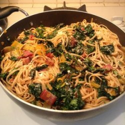 Linguine with Pancetta and Swiss Chard recipe