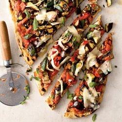 Veggie Grilled Pizza recipe
