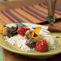 Beef and Vegetable Kebabs recipe