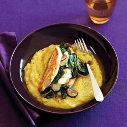 Stuffed Chicken with Rosemary Polenta recipe