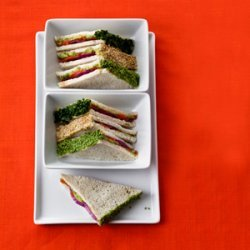 Smoked Salmon-Wasabi Tea Sandwiches recipe