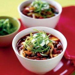 Red Bean and Poblano Chili recipe