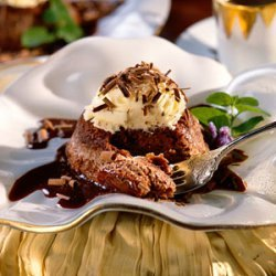 Chocolate Souffle with White Chocolate Mousse recipe
