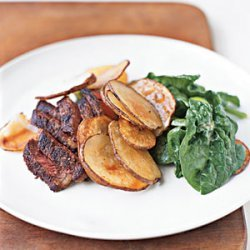 Steak and Potatoes with Mustard Vinaigrette recipe