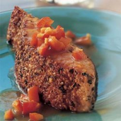 Pepper, Coriander, and Sesame Seed-Crusted Salmon recipe