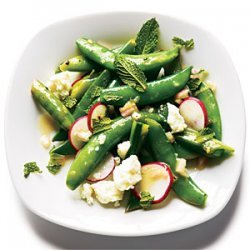 Radish and Feta Snap Peas recipe