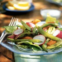 Grilled Vegetable Salad with Creamy Blue Cheese Dressing recipe