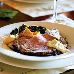 Salt- and Herb-Crusted Prime Rib with Fresh Horseradish Sauce recipe