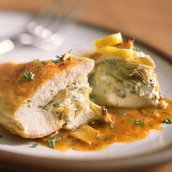 Stuffed Chicken Breasts with Artichoke Hearts and Goat Cheese recipe