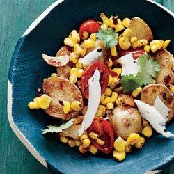 Baby Potatoes with Tomato-Corn Saute recipe
