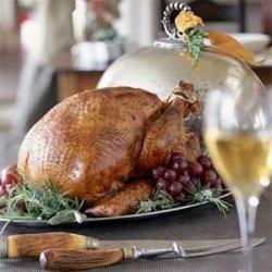 Orange-and-Maple Roasted Turkey With Giblet Gravy recipe