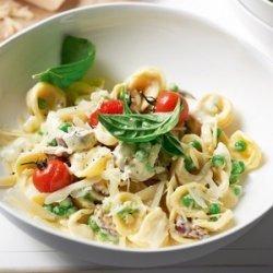 Pesto Chicken and Orecchiette with Green Peas and Tomatoes recipe