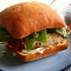 Chicken Sandwiches with Goat Cheese and Pesto recipe