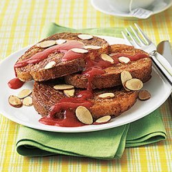 French Toast with Maple-Strawberry Sauce recipe
