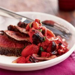 Grilled Steak with Charred Tomato Salsa recipe