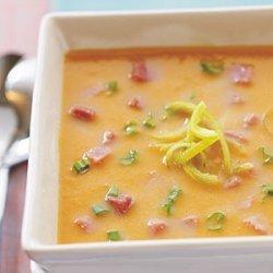 Sweet Potato, Leek, and Ham Soup recipe