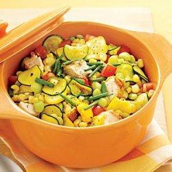 Chicken and Summer Vegetable Stew recipe