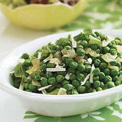 Peas with Mint and Ricotta Salata recipe