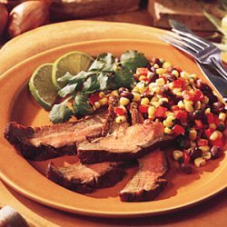 Grilled Flank Steak with Corn Salsa recipe