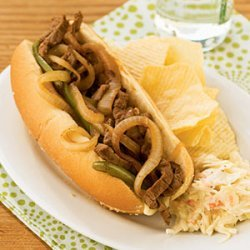 Steak and Cheese Sandwiches with Mushrooms recipe