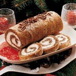 Pecan Cake Roll recipe