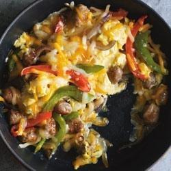 Sausage and Pepper Sunrise Burrito recipe